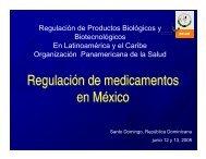 Regulación de medicamentos en México Regulación de ...