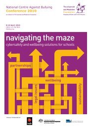 navigating the maze - National Centre Against Bullying