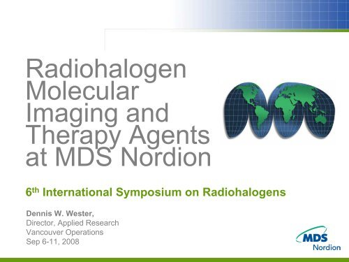 Radiohalogen Molecular Imaging And Therapy Agents At MDS