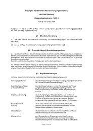 Wasserabgabesatzung - WAS - Stadtwerke Penzberg
