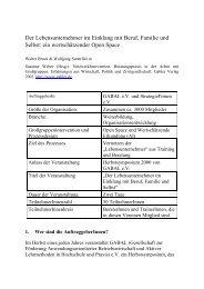ein wertschätzender Open Space - Www3.datacomm.ch