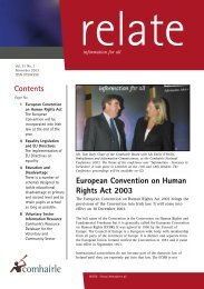 Relate November 2003 (pdf) - Citizens Information Board