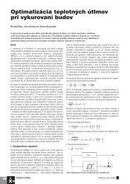 Optimalizácia teplotných útlmov pri vykurovaní budov - ATP Journal