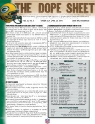 four primetime games highlight 2008 schedule packers look to