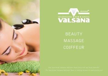 Beauty Preisliste - Sporthotel Valsana
