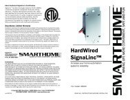 HardWired SignaLinc™ - SmartHome-Products