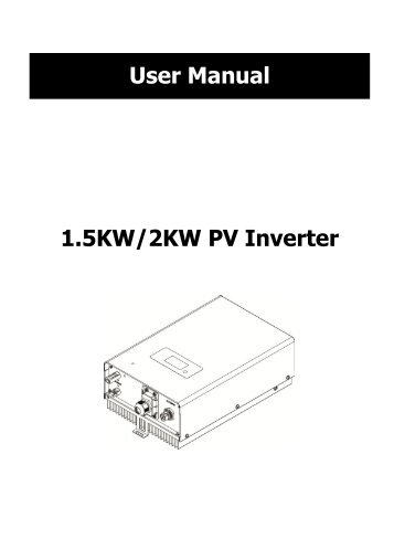 1.5KW/2KW PV Inverter User Manual - Voltron