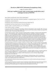 Dyrektywa 2003/54/WE Parlamentu Europejskiego i Rady z dnia 26 ...