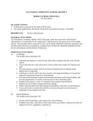 Policies of the Board of Education - Waunakee Community School ...