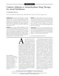 Catheter Ablation vs Antiarrhythmic Drug Therapy for Atrial Fibrillation