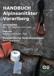 HANDBUCH Alpinsanitäter Vorarlberg - Bergrettung Vorarlberg