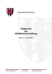 Reglement zur Abfallbewirtschaftung - Gemeinde Ueberstorf