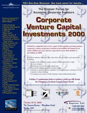 The Premier Forum for Accessing Corporate Investors - Chinsomboon