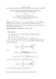 Volume 7, 2003 3 SOME HARDY SPACES ESTIMATES FOR ...