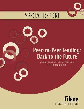 Peer to Peer inside_rev.indd - Filene Research Institute