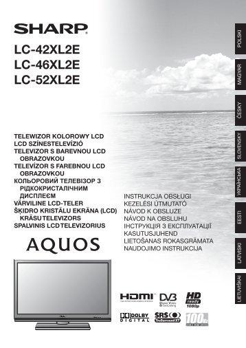 LC-42XL2E/46XL2E/52XL2E Operation-Manual PL - Sharp