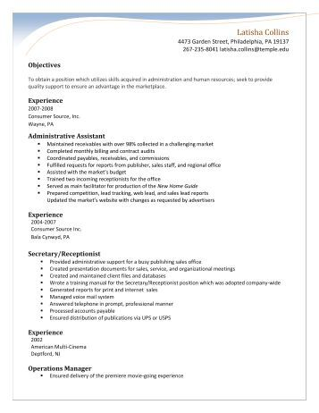 resume temple university temple university resume help ssays for