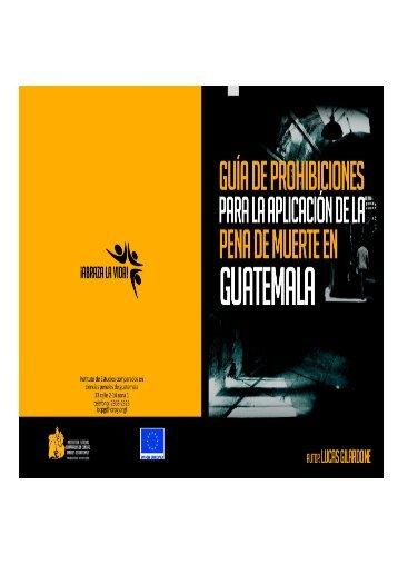Guía de Prohibiciones para la aplicación de la pena de muerte en ...