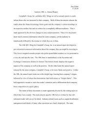 Analysis 10K vs. Annual Report - Temple Fox MIS