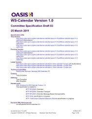 WS-Calendar Version 1.0 - docs oasis open - Oasis