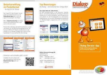 """Flyer """"Dialog-Berater-App"""" (690 KB) - Dialog Lebensversicherungs-AG"""