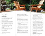 Raw and Boiled Linseed Oil Brochure - Recochem Inc.