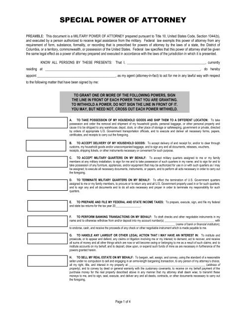 power of attorney form virgin islands  special power of attorney - Marine Corps Base Camp Pendleton