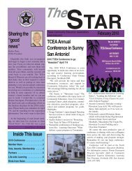 "Inside This Issue Sharing the ""good news"" TCEAAnnual ... - Augusoft"