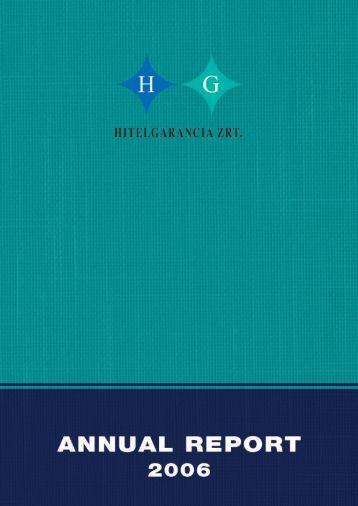 HG 2006 annuale.qxd - Hitelgarancia Zrt.