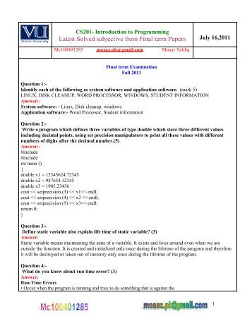 cs403 midterm solved subjective papers by moaaz