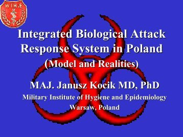 Integrated Biological Attack Response System in Poland - Sandia ...
