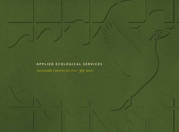 Stormwater Management - Applied Ecological Services