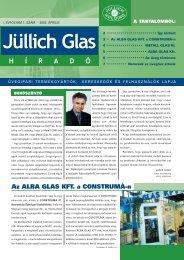 Az ALBA GLAS KFT. a CONSTRUMÁ-n - Jüllich Glas Holding Zrt.