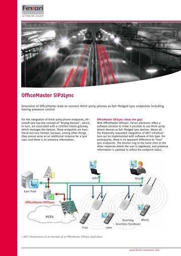 Data sheet OfficeMaster SIP2Lync - Ferrari electronic AG