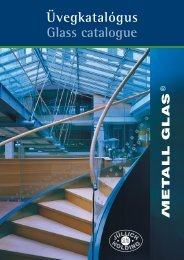 Üvegkatalógus Glass catalogue - Jüllich Glas Holding Zrt.