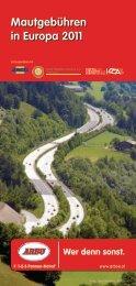Mautgebühren in Europa 2011 - Alles & Exclusiv