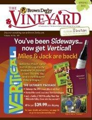 spring vineyard - Brown Derby International Wine Center