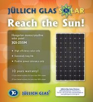 Hungarian monocrystalline solar panel, JGS-255M