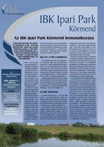 IBK Ipari Park - Körmend