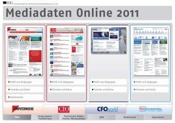 Mediadaten Online 2011 - IDG Business Media