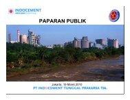 PAPARAN PUBLIK - Indocement Tunggal Prakarsa, PT.