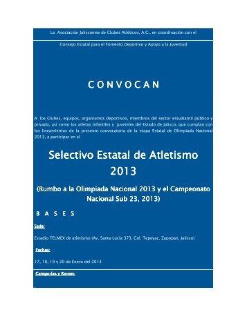 Selectivo Estatal de Atletismo 2013