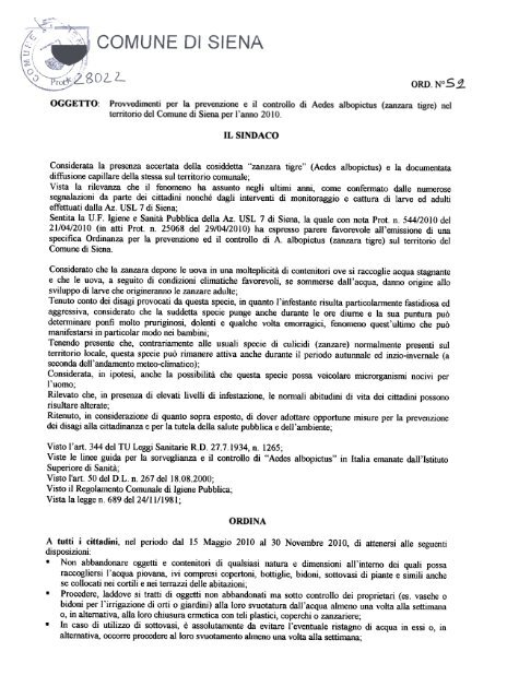 ORDINA - Comune di Siena