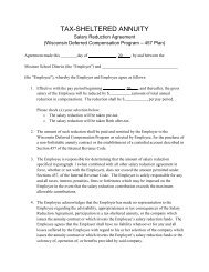 2013 457 Plan Salary Reduction Agreement - Mosinee School District