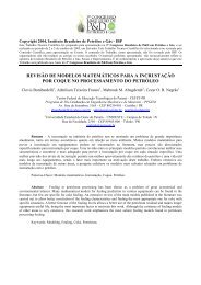Revisão de Modelos Matemáticos Para a Incrustação por ... - ABPG