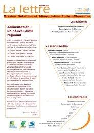 la mission Nutrition et Alimentation Poitou-Charentes