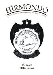 34. szám 2009. június - Szegedi Karszt- és Barlangkutató Egyesület