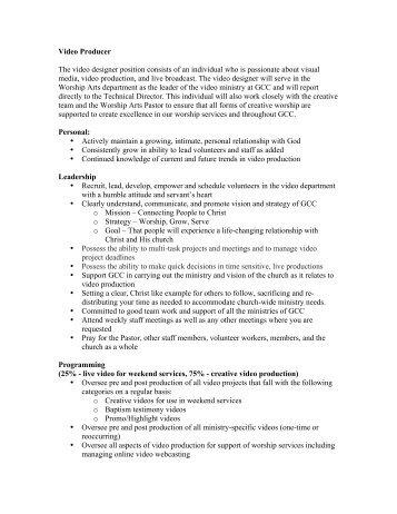 video designer job description - Khafre