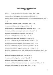 Koldingbogens forfatterregister 1970-2009 - Kolding Kommune