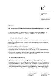 Richtlinien - zahnmedizinische kliniken zmk bern - Universität Bern